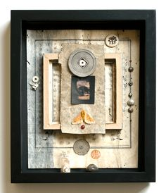 Haiku Kit #1 - Shadow box assemblage by Janet Jones