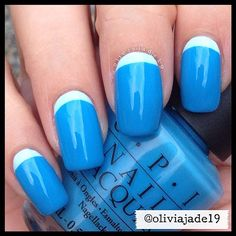 Polishes used: picture polish Sky and OPI No Room For The Blues