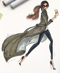 Illustration by Anum Tariq| Be inspirational ❥|Mz. Manerz: Being well dressed is a beautiful form of confidence, happiness & politeness