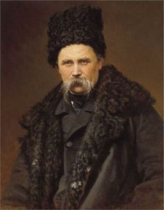 Portrait of poet and artist Taras Shevchenko, 1871  Ivan Kramskoy