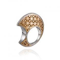 Sin Ring - armaggan.com Contemporary Jewellery, Modern Jewelry, Metal Jewelry, Diamond Jewelry, Jewelry Rings, Silver Jewelry, Jewelry Accessories, Jewelry Design, Unique Jewelry