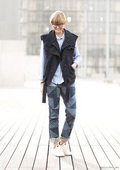 On the Street...Louise Veng, street style, photographer, Paris Fashion Week / Garance Doré