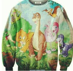 Land before time sweater. I don't want this. I need this.