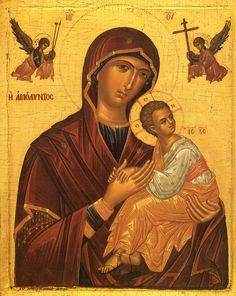 Our Lady of Perpetual Help Prayer Holy Card Painting, Orthodox Christian Icons, Art, Madonna Art, Art History, Sacred Art