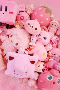 I thought I'd make a ~rainbow~ toy collage since you all loved the ~pink, white, purple~ one so much. Aesthetic Room Decor, Pink Aesthetic, Plushies, Softies, Kawaii Bedroom, Otaku Room, Cute Room Decor, Cute Stuffed Animals, Gamer Room