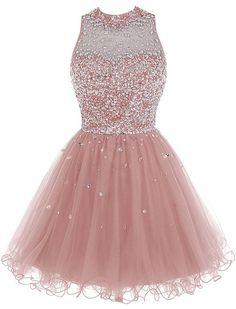 Bbonlinedress Short Tulle Open Back Beading Prom Dress Homecoming Dress