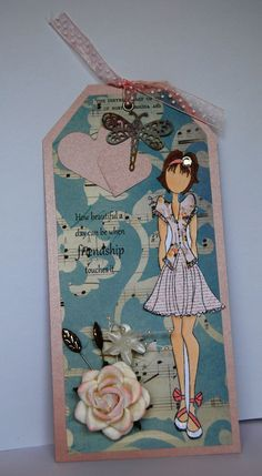 Prima Doll Tag Friendship  Handmade Tag by Smiles4Paper on Etsy