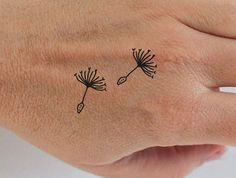 6 dandelion temporary tattoos / wild flower by encredelicate