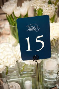 Printable Table Numbers and Menu Card Double Sided by pompdesigns, $19.99