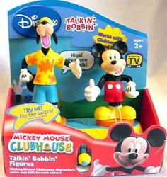 ($49.99) Mickey Mouse Clubhouse Mickey and Goofy Talkin' Bobbin' Figures  From Disney