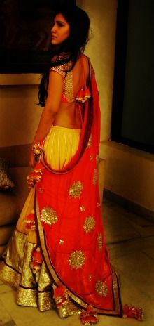 Ghagra Choli Ensemble by Nikasha Tawadey http://www.nikasha.com/