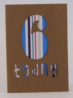 Birthday Card Age 6 £2.50