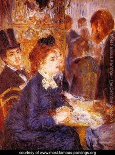 At The Cafe2 - Pierre Auguste Renoir - www.most-famous-paintings.org