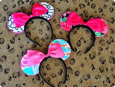 Step by Step guide for making custom Minnie Mouse ears out of any fabric