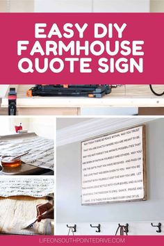 Easy DIY Quote Sign | DIY Wood Quote Sign | Wood Framed Quote Sign | Wooden Quote Sign | DIY Wall Decor | Farmhouse Quote Sign | DIY Farmhouse Signs | DIY Wall Quote Signs | DIY Wood Sign with Calligraphy Make A Quote, Diy Quote, Sign Quotes, Wooden Signs With Sayings, Diy Wood Signs, Diy Gifts Art, Diy Home Decor Projects, Vintage Diy, Diy On A Budget