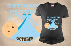 Maternity T Shirts Tee Estimated Delivery T-Shirt T shirts Mom Funny Maternity T Shirt Perfect Gift Pregnancy Tee Put Your Own Month Funny Maternity, Maternity Shirts, Pregnancy Humor, Pregnancy Shirts, Mom Funny, Tee Shirts, Tees, Peek A Boos, Mom Humor