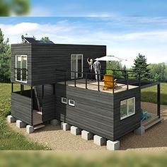 Building your own container home? You need to know this before you start. Building A Container Home, Container Buildings, Container Architecture, Architecture Design, Tiny House Cabin, Tiny House Living, Tiny House Plans, Shipping Container Home Designs, Sims House