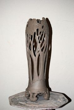 The unglazed piece I love Terence Painter's tree vases. This was the only image I could steal from his website.