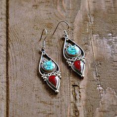 Mithila Silver Tribal Earrings