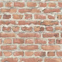 Small Bedroom Ideas: Red Brick Wallpaper