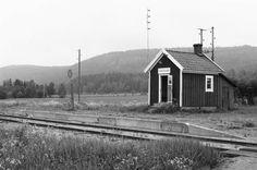 Mosstakan hållplats 1985 DVVJ - streckan Årjäng-Arvika