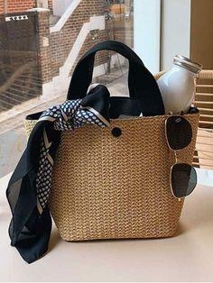 Korean Style Casual Weaving Handbags Spring Bags, Summer Bags, Summer Time, Travel Purse, Straw Tote, Wholesale Bags, Tote Bag, Crossbody Bags, Casual Bags