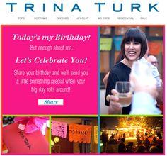 Trina Turk #BirthdayEmail