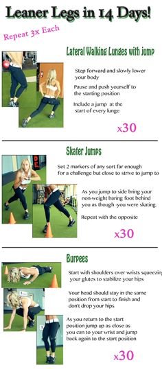 Do this workout for 2 weeks to see a noticeable difference in your legs! Get Leaner Legs in 14 days!! And for more workouts to burn fat visit http://www.flaviliciousfitness.com/