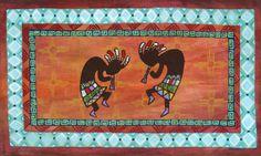 Kokopelli Hopi American indian by SWBSTUDIO on Etsy, $245.00