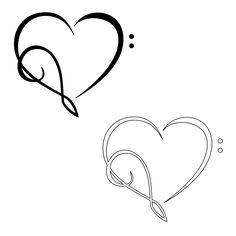 Treble clef/ bass clef heart