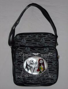 The Nightmare Before Christmas Jack Skellington and Sally Black Skull Purse Bag by VampireVixen13 on eBay - http://www.ebay.com/sch/vampirevixen13/m.html?_nkw=&_armrs=1&_ipg=&_from=