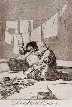 Francisco Goya y Lucientes (Fuendetodos, 1746 - Bordeaux, 1828) : Si quebrò el cantaro (Se hai rotto il vaso). - Auction Books & Graphics. Part I: Prints, Drawings & Paintings - Libreria Antiquaria Gonnelli - Casa d'Aste - Gonnelli Casa d'Aste