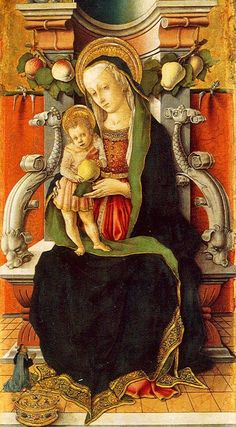 Carlo Crivelli (Italian artist, c 1430-1495) Madonna and Child