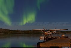 an aurora beauty | http://www.airliners.net/photo/Cessna-180B/2165572/L/