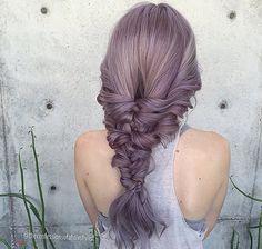 Grey lilac hair, wow