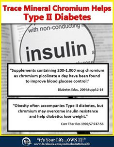 Trace Mineral Chromium Helps Type 2 Diabetes