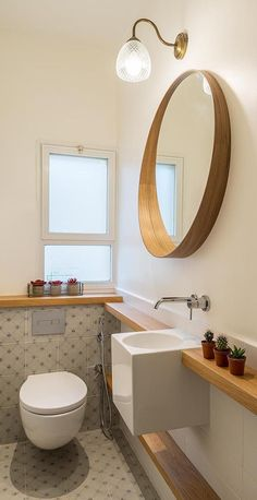 50 small bathrooms Si estas buscando inspiración para espacios reducidos, checa estos 50 hermosos baños pequeños en diferentes estilo... #bañospequeños #bañosmodernos