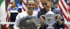 "Roberta Vinci (left) and Flavia Pennetta  Flavia Pennetta beat fellow Italian Roberta Vinci to win her first Grand Slam title at the US Open, and then announced her retirement. Pennetta, the 26th seed, won 7-6 (7-4) 6-2 to become only the second Italian woman to win one of the tennis majors. She then said: ""I make a big decision in my life - this is the way I like to say goodbye to tennis."" The 33-year-old from Brindisi confirmed she plans to play the rest of the season before retiring."