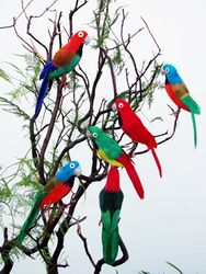 Assorted Color Feathered Flying Artificial Birds