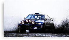 'Subaru Rally Car' Canvas Print by – Classic Cars Subaru Sedan, Subaru Rally, Subaru Impreza Wrc, Rally Car, Wrx Sti, Maserati, Bugatti, Ferrari, Car Wallpapers