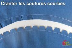 Astuce : cranter les coutures courbes