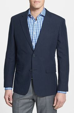 Nordstrom Regular Fit Linen Blazer available at #Nordstrom