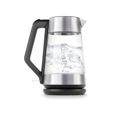 7.4-Cup Cordless Glass Electric Kettle, Black/Silver