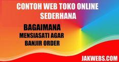 contoh website toko online sederhana, toko online sederhana, contoh toko onine Marketing, Website