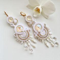 Pearl Earrings, Drop Earrings, Handmade Jewelry, Pearls, Unique, Fashion, Moda, Bead Earrings, Beads