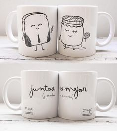 by Mr Wonderful Diy Becher, Ideas Aniversario, Diy Mugs, Mr Wonderful, Cute Mugs, Mug Designs, Mug Cup, Boyfriend Gifts, Diy Gifts