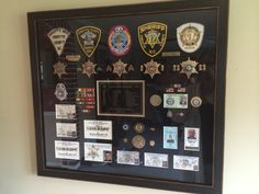 Shadow box - history of law enforcement career