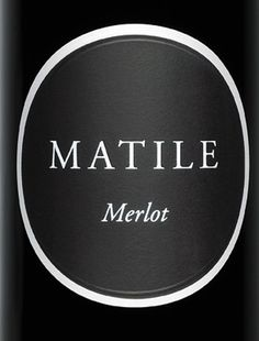 Matile Merlot label