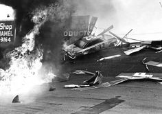 Old NASCAR - from twitter: wooden guardrails looked like a lot of fun!