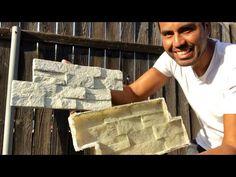 COMO HACER PANEL DE YESO SIMULACION PIEDRA/ making fake stones panels - YouTube Concrete Tools, Concrete Patio Designs, Diy Concrete Planters, Concrete Furniture, Concrete Crafts, Stamped Concrete, Faux Brick Wall Panels, Brick Wall Paneling, Faux Stone Walls